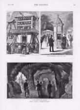 1878 - Antique Print FRANCE Paris Carillons Trocadero Aquarium Ticket   (013)