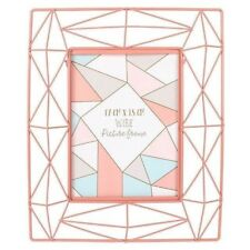 Stunning Blush Coral Pastel Coloured Wire Geometric Contemporary Picture Frame