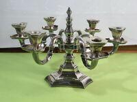 Monumentaler 6 armiger Art Deco Silberleuchter von Gottlieb Kurz um 1920 /1138 g