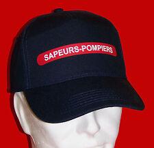 CASQUETTE SAPEURS-POMPIERS Bleu Marine Adulte réglable Soldats du Feu