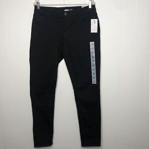 Old Navy Jeans Women's Size 14 Long Low-Rise Rockstar Super Skinny Black NWT