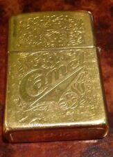 Engraved 22kt Gold Plate Camel Zippo Lighter circa 1996