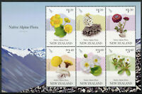 New Zealand NZ 2019 MNH Native Alpine Flora 6v M/S Flowers Plants Stamps