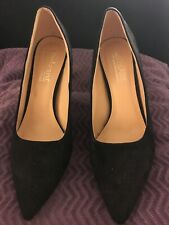 Women's Shoes Catherine Malandrino Black Suede Heels Size 8.5