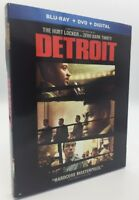 Detroit (Blu-ray+DVD+Digital, 2017; 2-Disc Set) NEW w/ Slipcover
