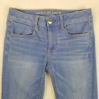 American Eagle Womens Jeans Skinny Jeggings Denim Super Stretch Blue Size 6