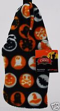 Halloween Grreat Choice Black Orange Fleece Hoodie Pet Dog Coat XSmall NWT