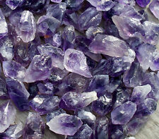 WHOLESALE 200 x PURPLE AMETHYST SMALL POINTS BRAZIL 17mm - 20mm * BAG * ID CARD
