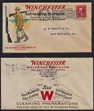 WINCHESTER SELF-LOADING SHOTGUNS, FULL COLOR 1912 CACHET PLUS ADS ON BACK. VF-XF