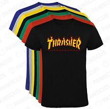Camiseta Thrasher llamas letras hombre, tallas y colores