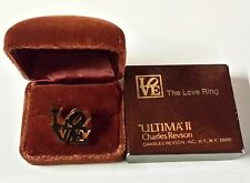 The Love Ring Ultima'll by Charles Revson NY 1970 Design by Robert Indiana  New