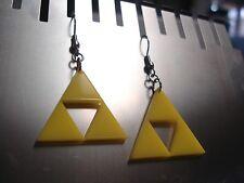 Legend of Zelda Inspired Triforce Earrings -  Nintendo, Link, Mario