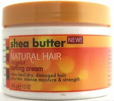 CANTU SHEA BUTTER FOR NATURAL HAIR COCONUT CURLING CREAM DRY DAMAGED 12 OZ.