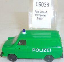 FORD TRANSIT Policía TRANSPORTER diésel IMU EUROMODELL 09038 H0 1:87 emb.orig #