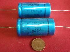 "SELTEN! KONDENSATOR 4700µF 16V= ORG.""VALVO""  D=22x41mm     2x  25302"