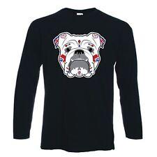 British Bulldog Sugar Skull Long Sleeve T-Shirt