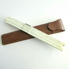 Sans & Streiffe No. 310 Slide Rule in Leather Case minor wear owners name Japan