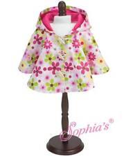 "Flower Rain Poncho fit 15"" American Girl Doll Bitty Baby rain coat FLORAL"