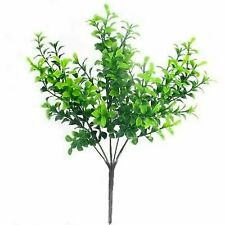 Small Bunch of Artificial Eucalyptus Stems - Greenery Plastic Leaves Fake Xmas