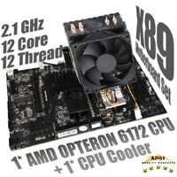 Set Combo For AMD Motherboard G34 Socket With Opteron 6172 CPU + CPU Fan