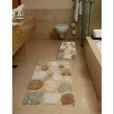 2 Piece Bathroom Rug Set non-skid, no-slip backing Pebbles Bath Plush Cotton