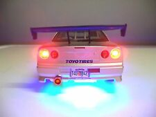 """2 Fast 2 Furious"" Paul Walker 1/18 Nissan Skyline GT-R R34 Fast and Furious Ut"