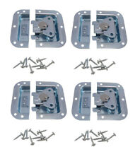 4 Pack Zinc Finish Medium Recessed Butterfly Latch W/Alignment Dowel A3020D