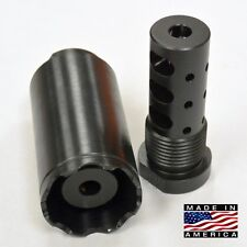 "1/2""-28 Muzzle Brake W/Cone Multi Function EXTERNAL THREAD ADAPTER 13/16-16 .223"