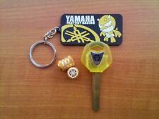 chiave vergine+portachiavi+tappini  per YAMAHA R1-R6-FZ1-FZ6-FZ8-TMAX-XT660
