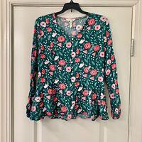 Matilda Jane Yesteryear Floral Tunic Sz Medium