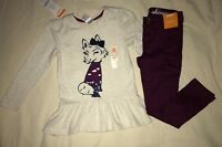Gymboree Girl Top Mulberry Cargo Pants Size 4 Bundled And Bright Winking Fox New