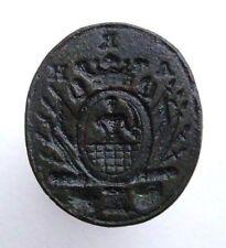 Poland Polish 18th Century Antique Wax Seal Stamp Coat of Arms Gniewiewski ? M