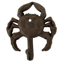 Cast Iron Wall Mount Nautical Decor Crab Hook coat hat key ring bath towel rack