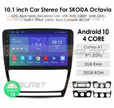 "10.1"" Android 10 Car Stereo Radio GPS For Skoda Octavia2 2008-2013 2+32GB 4G DSP"