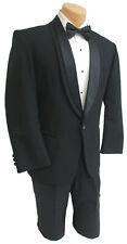 46L Men's Black Oscar de la Renta Tuxedo Jacket with Pants Mason Prom 40