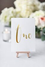 gold foil table numbers PER CARD wedding table numbers card numbers
