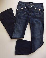 Rock & Republic Scorpion Women's Jeans Size 27 Dark Blue Flare Stretch Low Rise