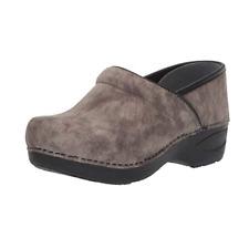 Dansko XP 2.0 Women's Khaki Leather with Rubber Sole Nubuck Clogs US 10.5-11 M