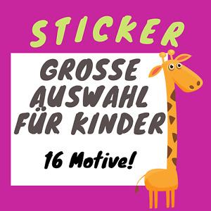 Kindersticker Aufkleber Einschulung Schulanfang Vorschule Zuckertüte Sticker