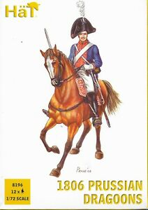 HäT/HaT Napoleonic Wars 1806 Prussian Dragoons 1/72 Scale 25mm