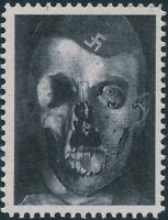 Stamp Replica Label Germany 0096 WWII German Fuhrer Hitler Skull Rot Face MNH