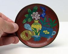 Vintage Cloisonne Plate Floral Design