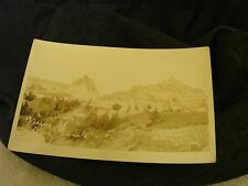 REAL PHOTO POST CARD  VIEW BUEL LERIELY ? SOUTH DAKOTA UN POSTED VIEW OF HILLS $