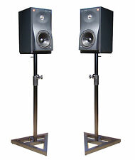 2x Soundking DB039B steel studio monitor stands 70-130cm height adjustable