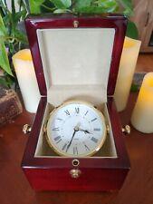 Swiss Quartz Desk Clock In Box From IAAPA - Has Beautiful Wood Box Pivot & Turns