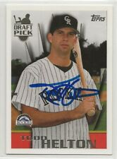 Todd Helton signed 1996 Topps baseball autograph Colorado Rockies draft pick