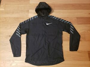 Nike Mens SMALL Impossibly Light Packable Pullover Running Jacket 857800 010