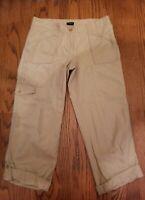 Ann Taylor Signature Khaki Crop Cargo Capri Pants Womens Size 2 NWOT