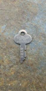 Original Vintage Flat Steel Key United Metal Box Co Key 1210