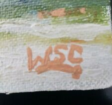 Winston Churchill Vintage Rare Original Oil Painting. Hand Signed, No Print.